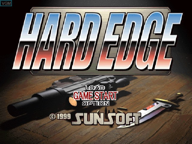 Title screen of the game Hard Edge on Sony Playstation