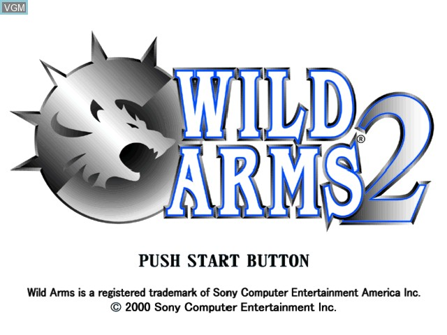 Title screen of the game Wild Arms 2 on Sony Playstation