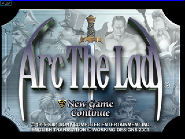 Title screen of the game Arc the Lad Collection - Arc the Lad on Sony Playstation