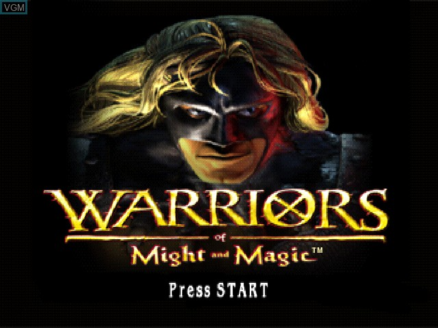 Title screen of the game Warriors of Might and Magic on Sony Playstation