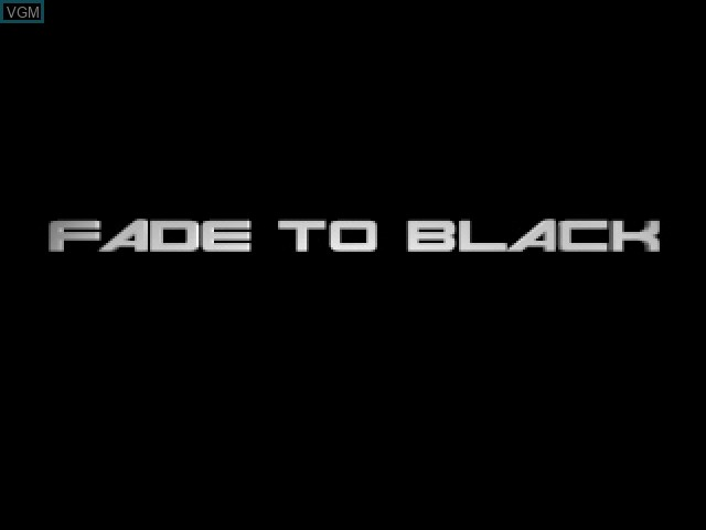 Title screen of the game Fade to Black on Sony Playstation