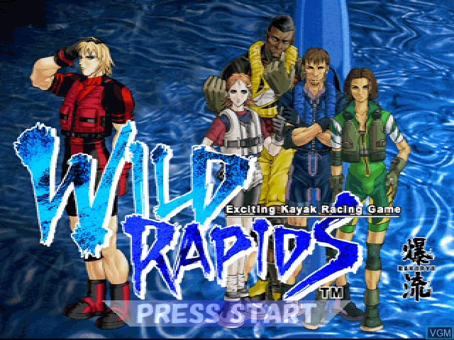 Title screen of the game Wild Rapids on Sony Playstation