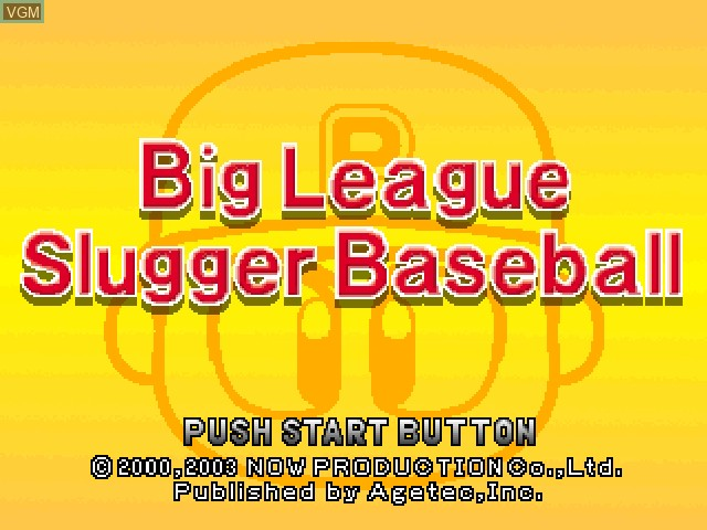 Title screen of the game Big League Slugger Baseball on Sony Playstation