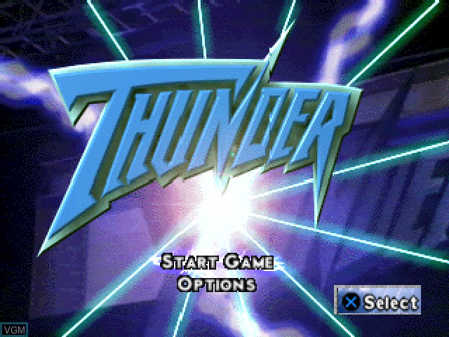 Title screen of the game WCW-nWo Thunder on Sony Playstation