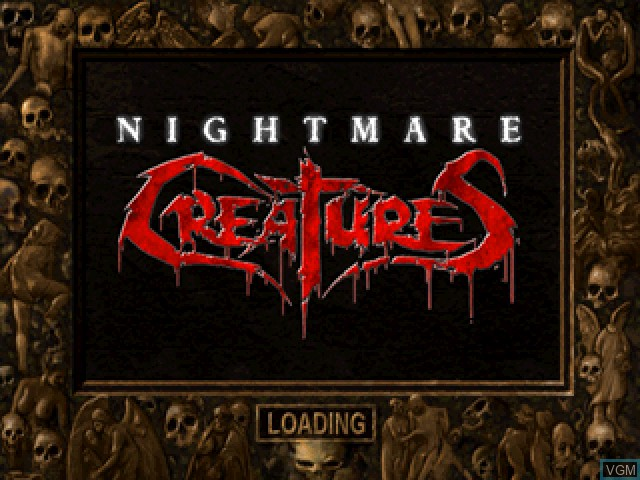 Title screen of the game Nightmare Creatures on Sony Playstation