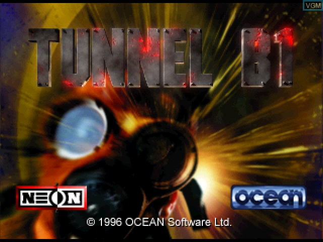 Title screen of the game Tunnel B1 on Sony Playstation