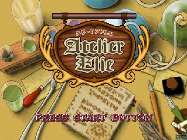 Title screen of the game Elie no Atelier - Salburg no Renkinjutsushi 2 on Sony Playstation