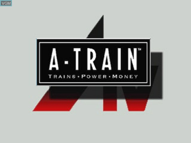 Title screen of the game A-Train - Trains, Power, Money on Sony Playstation