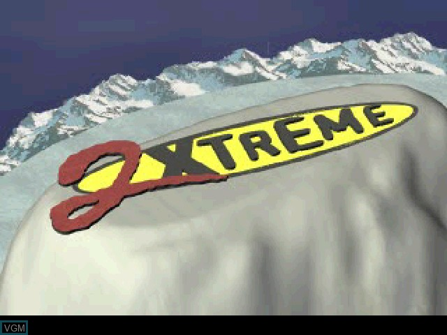 Title screen of the game 2Xtreme on Sony Playstation