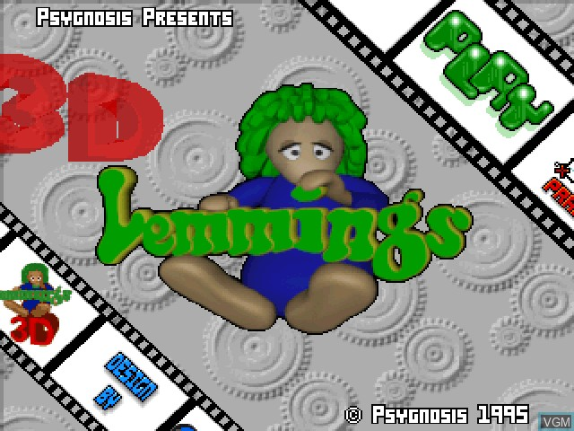 Title screen of the game 3D Lemmings on Sony Playstation