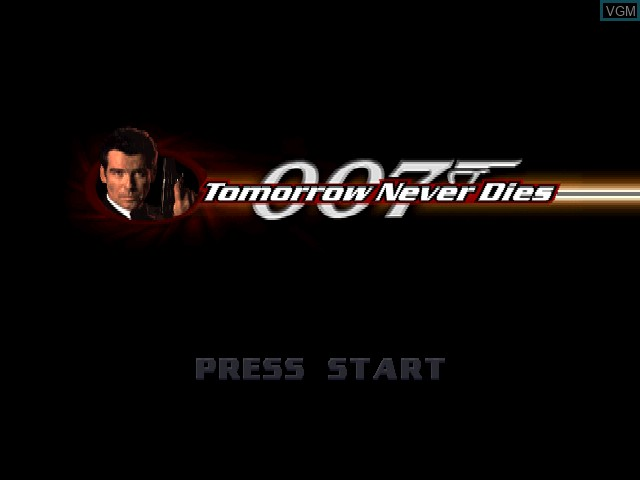 Title screen of the game 007 - Tomorrow Never Dies on Sony Playstation