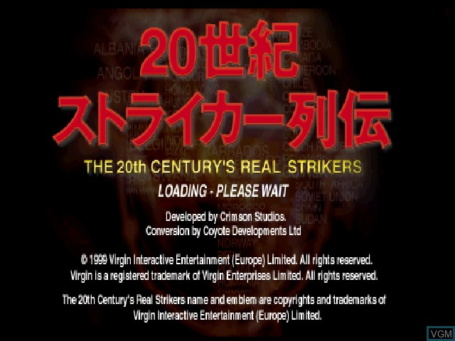 Title screen of the game 20 Seiki Striker Retsuden on Sony Playstation