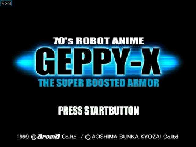 Title screen of the game 70's Robot Anime - Geppy-X on Sony Playstation