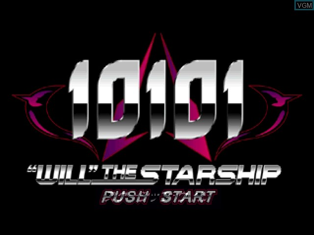 Title screen of the game 10101 - Will the Starship on Sony Playstation