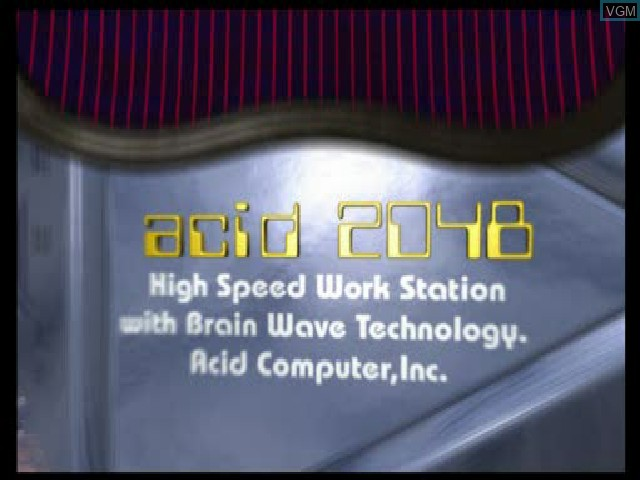 Title screen of the game Acid on Sony Playstation