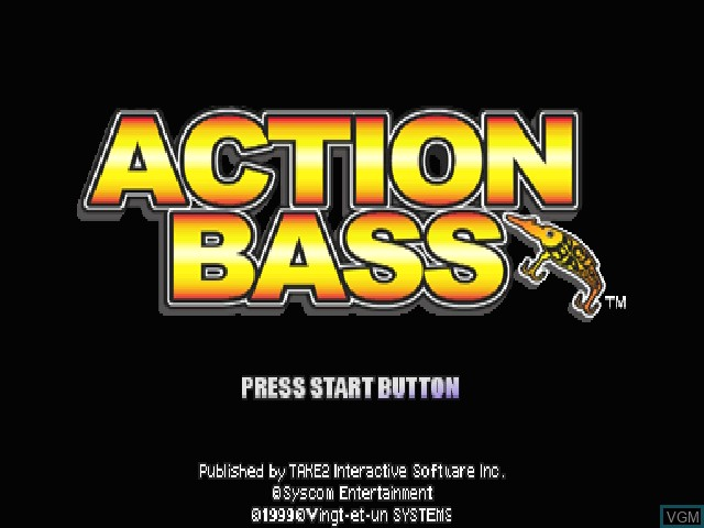 Title screen of the game Action Bass on Sony Playstation