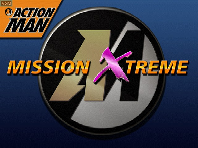 Title screen of the game Action Man - Mission Xtreme on Sony Playstation