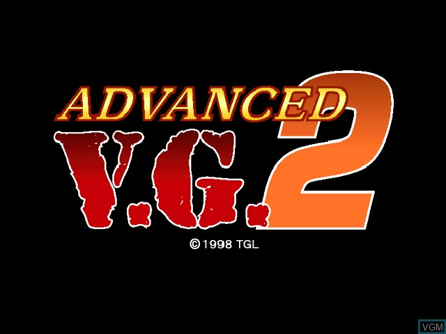 Title screen of the game Advanced V.G. 2 on Sony Playstation