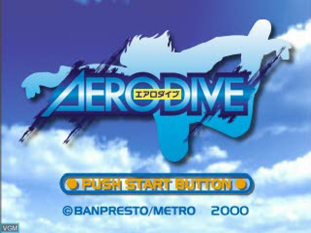 Title screen of the game Aero Dive on Sony Playstation