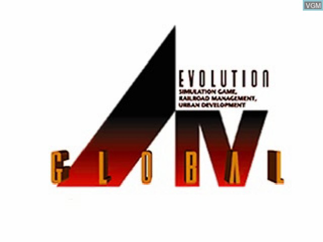 Title screen of the game A Ressha de Ikou 4 - Evolution Global on Sony Playstation