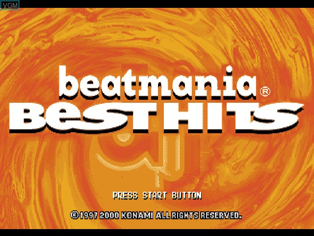 Title screen of the game BeatMania Best Hits on Sony Playstation