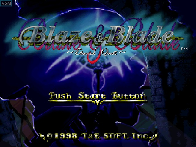 Title screen of the game Blaze & Blade - Eternal Quest on Sony Playstation