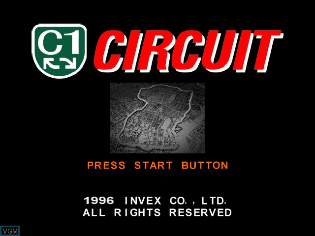Title screen of the game C1 - Circuit on Sony Playstation