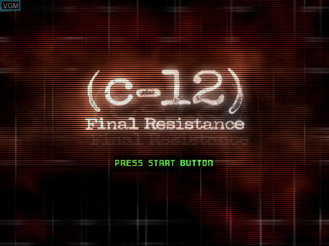 Title screen of the game C-12 - Final Resistance on Sony Playstation