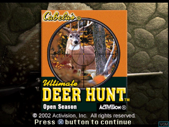 Title screen of the game Cabela's Ultimate Deer Hunt - Open Season on Sony Playstation