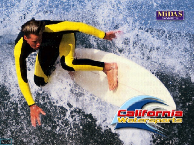 Title screen of the game California Watersports on Sony Playstation