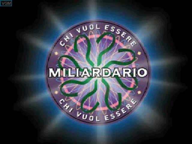 Title screen of the game Chi Vuol Essere Miliardario on Sony Playstation