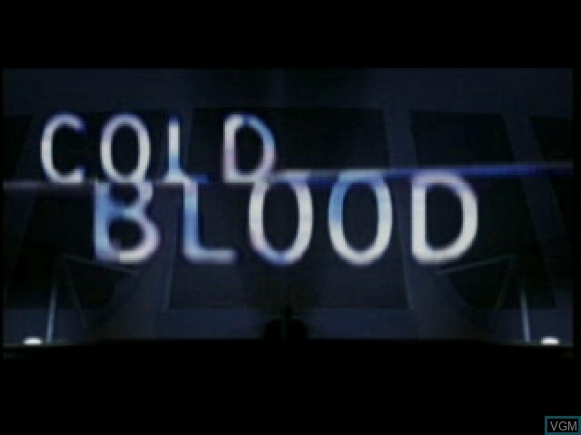 Title screen of the game Cold Blood on Sony Playstation
