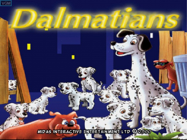 Title screen of the game Dalmatians, The on Sony Playstation