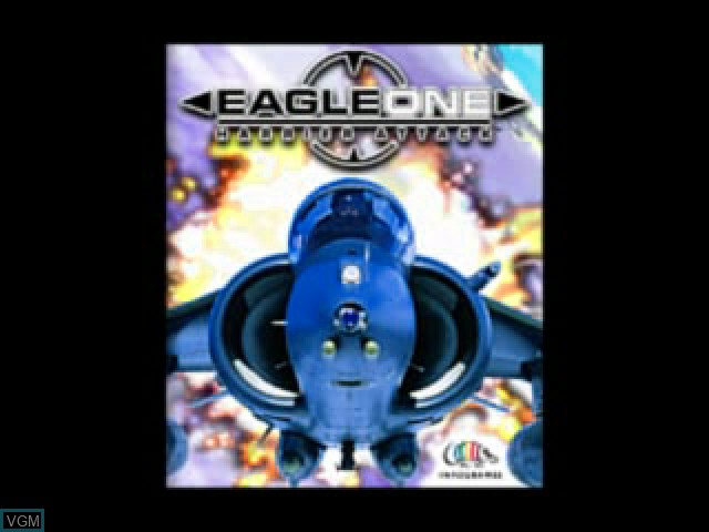 Title screen of the game Eagle One - Harrier Attack on Sony Playstation