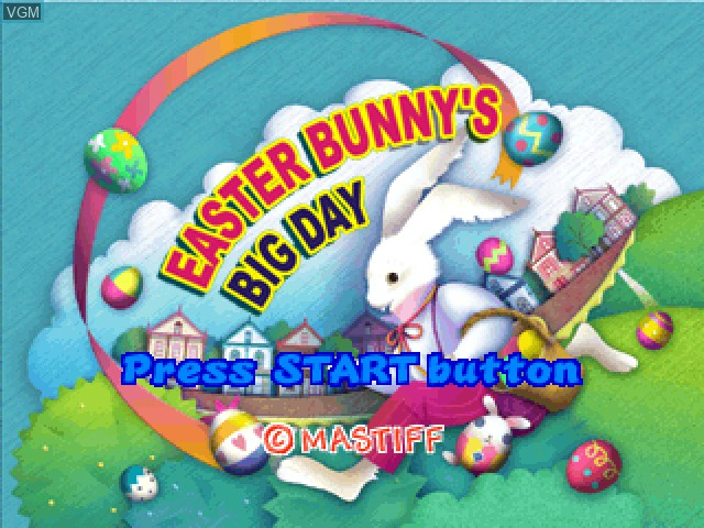 Title screen of the game Easter Bunny's Big Day on Sony Playstation