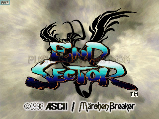 Title screen of the game End Sector on Sony Playstation