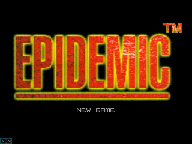 Title screen of the game Epidemic on Sony Playstation