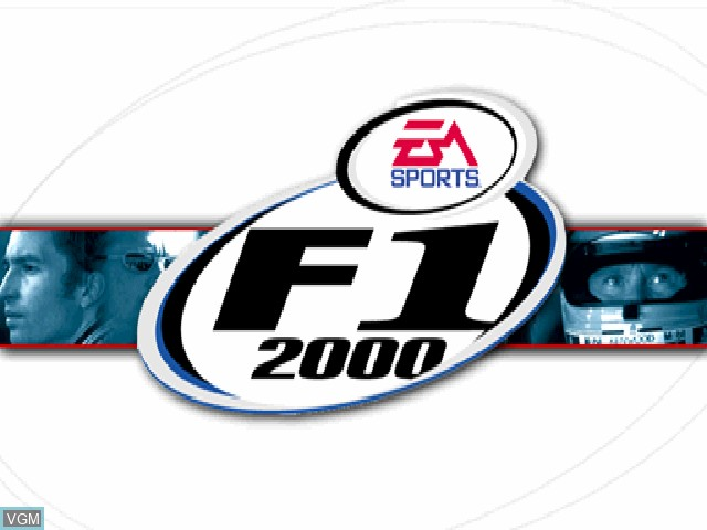 Title screen of the game F1 2000 on Sony Playstation