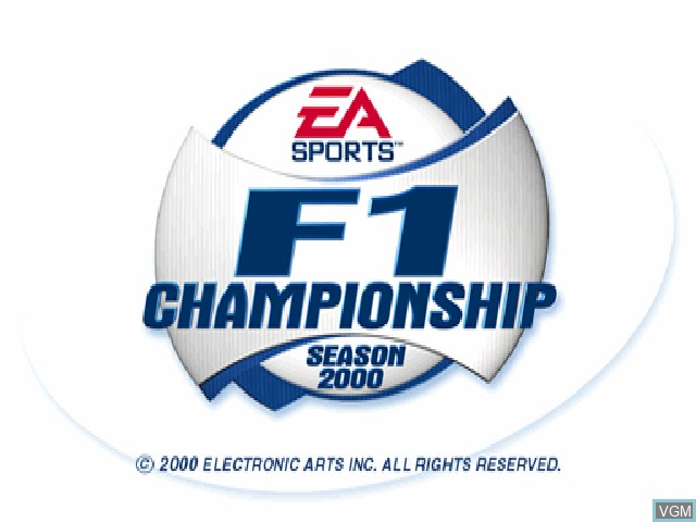 Title screen of the game F1 Championship Season 2000 on Sony Playstation