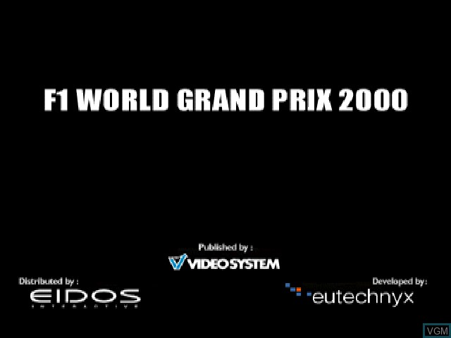 Title screen of the game F1 World Grand Prix on Sony Playstation