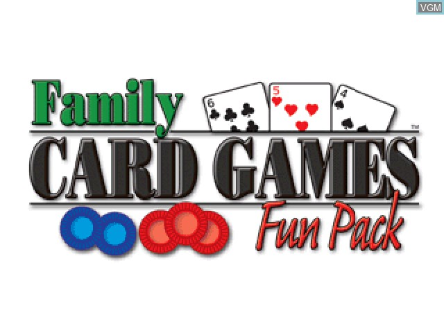 Title screen of the game Family Card Games Fun Pack on Sony Playstation