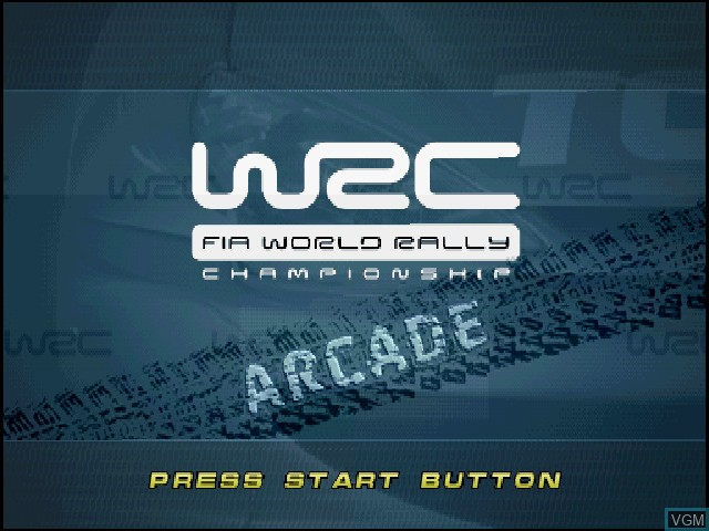 Title screen of the game WRC - FIA World Rally Championship Arcade on Sony Playstation
