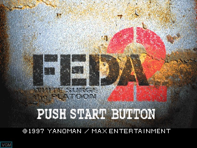Title screen of the game FEDA 2 - White Surge the Platoon on Sony Playstation