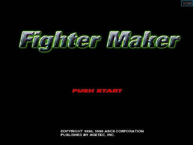 Title screen of the game Fighter Maker on Sony Playstation