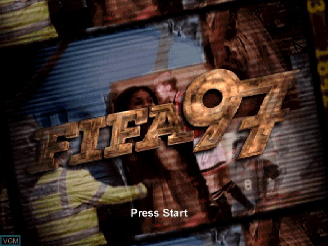 Title screen of the game FIFA 97 on Sony Playstation