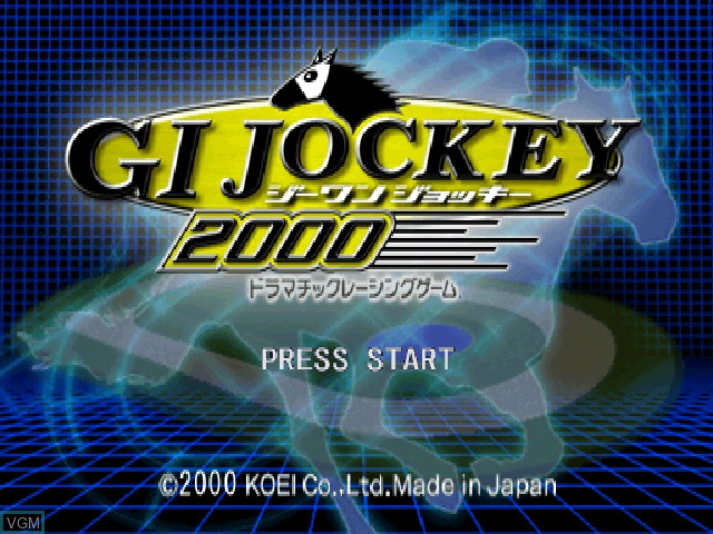 Title screen of the game G1 Jockey 2000 on Sony Playstation