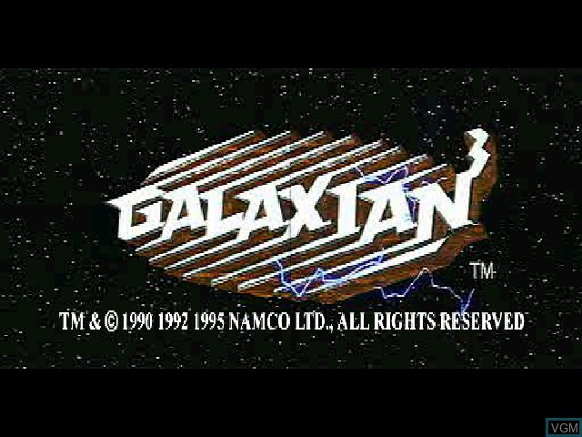Title screen of the game Galaxian^3 on Sony Playstation