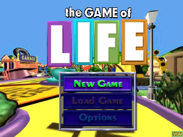 Title screen of the game Game of Life, The on Sony Playstation