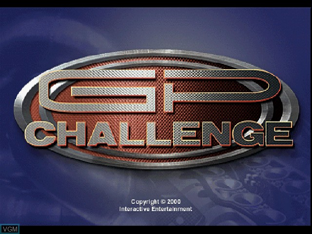 Title screen of the game GP Challenge on Sony Playstation