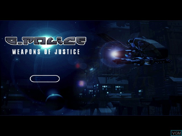Title screen of the game G-Police - Weapons of Justice on Sony Playstation
